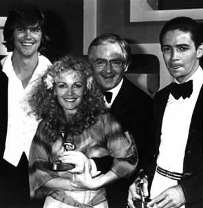 Paul And Friends After Winning The 1974 Logie Awards